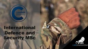 MSc International Defence and Security