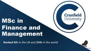 MSc in Finance and Management at Cranfield University
