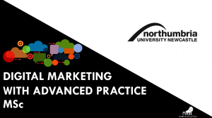 DIGITAL MAKETING WITH ADVANCED PRACTICE MSC