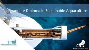 The Postgraduate Diploma in Sustainable Aquaculture