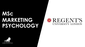 MSc Marketing Psychology at Regent's University London
