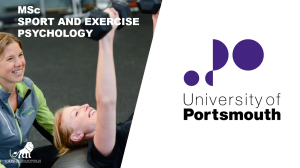 MSc Sport and Exercise Psychology at University of Portsmouth