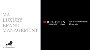 MA : Luxury Brand Management at Regent's University London