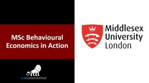 MSc Behavioural Economics in Action at Middlesex University London